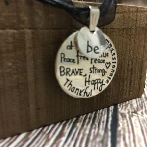 Inspirational Quote Necklace